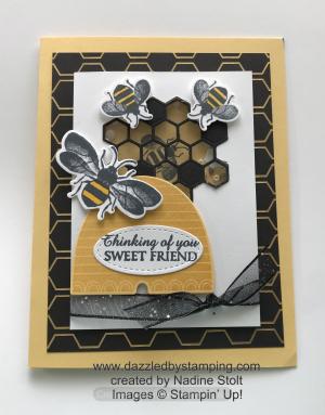 Honey bee bundle, Golden Honey DSP (SAB), created by Nadine Stolt, www.dazzledbystamping.com