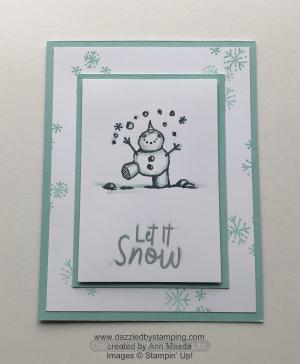 Snowman Season, created by Ann Maede, www.dazzledbystamping.com