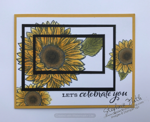 Triple Time Stamping, Celebrate Sunflowers, www.dazzledbystamping.com