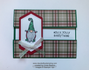 Gnome for the Holidays, created by Linda Stearns, www.dazzledbystamping.com