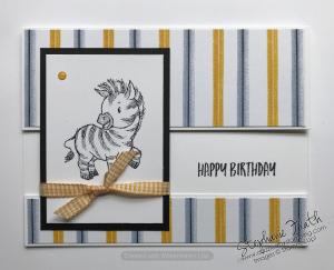 Zany Zebras, Playing with Patterns DSP, www.dazzledbystamping.com