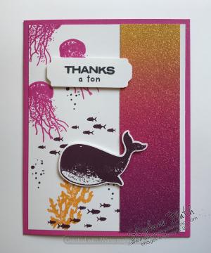Whale Done bundle, Rainbow Glimmer Paper, www.dazzledbystamping.com
