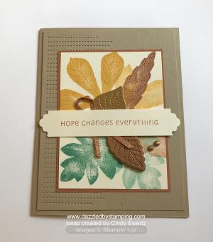 Love of Leaves bundle, swap created by Cindy Ewertz, www.dazzledbystamping.com