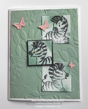 Zany Zebras, swap by Mary DeWit, www.dazzledbystamping.com