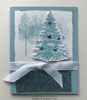 Winter Woods, created by Mary Bearss, www.dazzledbystamping.com