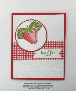 Sweet Strawberry bundle, Berry Blessings (SAB bundle), created by Georgianne Everhart, www.dazzledbystamping.com