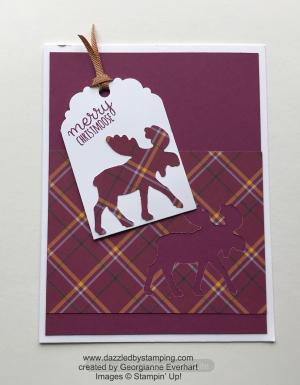 Merry Moose bundle, created by Georgianne Everhart, www.dazzledbystamping.com