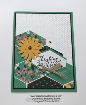 Happy Thoughts, Flower & Field DSP (SAB), created by Suzanne Taylor, www.dazzledbystamping.com