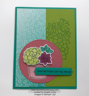 Simply Succulents bundle, Oh So Ombre DSP (SAB), created by Angela Curry, www.dazzledbystamping.com